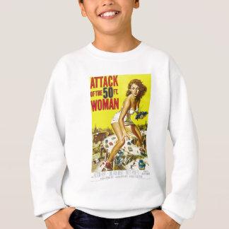 Angriff des 50ft Frauen-Filmplakats Sweatshirt