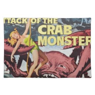Angriff des Krabben-Monsters Stofftischset