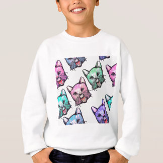 angry, cat, kawaii, cute, Tier, mooon, Alien, sp, Sweatshirt