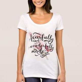 Ängstlich und wunderbar gemachtes Psalm-139:14 T-Shirt