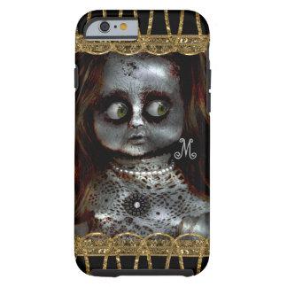 Ängstlichpuppe beängstigendes Goth Monogramm Tough iPhone 6 Hülle