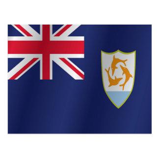 Anguilla-Flagge Postkarte