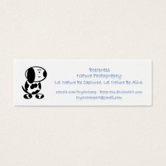 Anhänger-Anzeigen-Karte Mini Visitenkarte