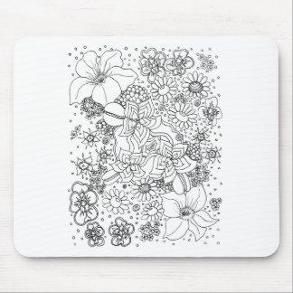 Anhäufung der Blumen Mousepad