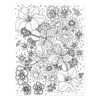 Anhäufung der Blumen Postkarte