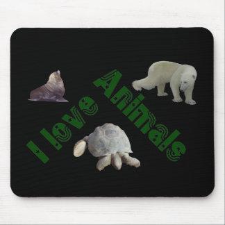animals grün mauspad