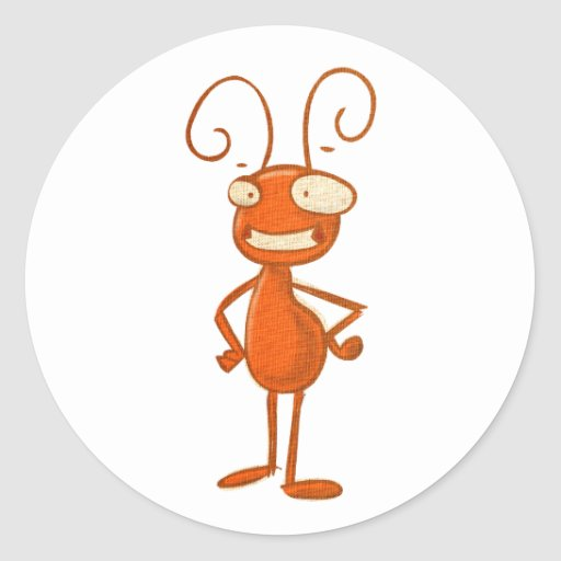 animaux mignons - fourmi adhésif rond