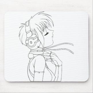 Anime-Mädchen Mauspads