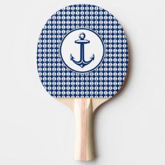 Anker auf Anker-Muster Tischtennis Schläger