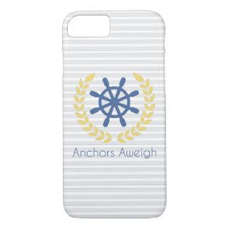 Anker-Aweigh Seeschiffs-Rad-Streifen iPhone 8/7 Hülle