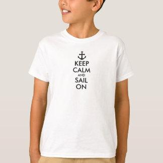Anker behalten Ruhe und Segel auf Seegewohnheit T-Shirt