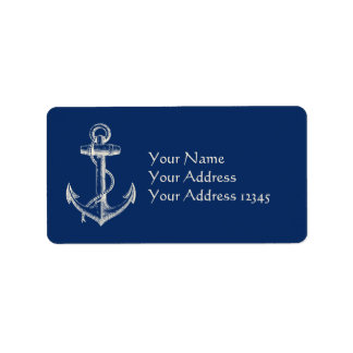 Anker-Seeadressen-Etikett Adressaufkleber