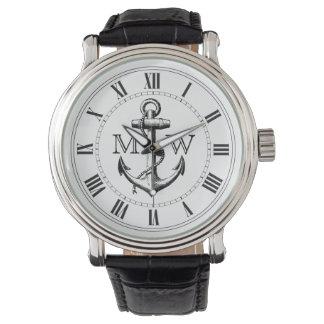 Anker, Seemonogramm Uhren
