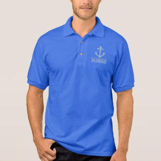 Anker-Typpolo Fort Lauderdale Florida blaues Poloshirt