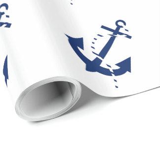 Anker u. Linie Marine Geschenkpapier