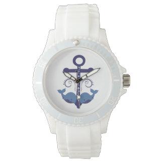 Anker und Blauwale Uhr