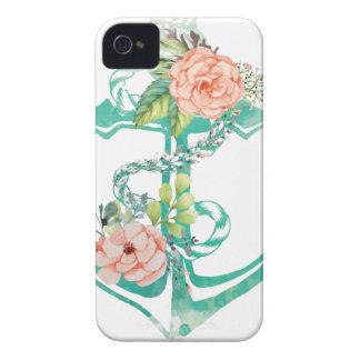 Anker und Rosen iPhone 4 Hülle