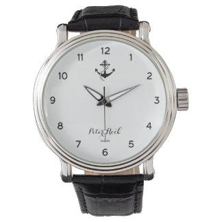 Anker und Seil Armbanduhr