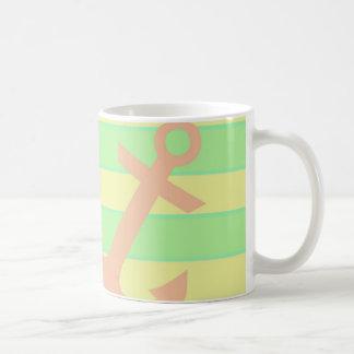 Anker und Streifen Kaffeetasse