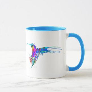 """Ankommend!"" Kolibri-Druck Tasse"