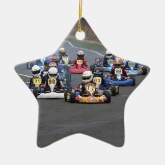 Ankömmlingskadett gehen, kart Rennen karting Keramik Ornament