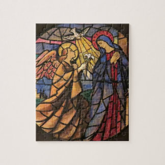 Ankündigungs-Buntglas-Fenster-Puzzlespiel Italien