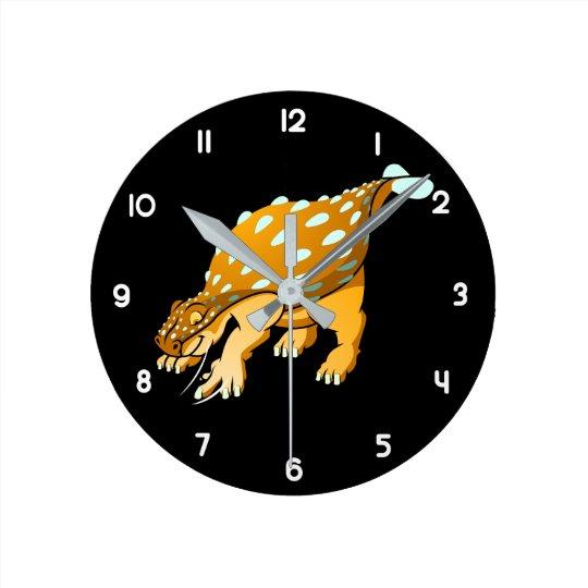 Ankylosaurus Runde Wanduhr