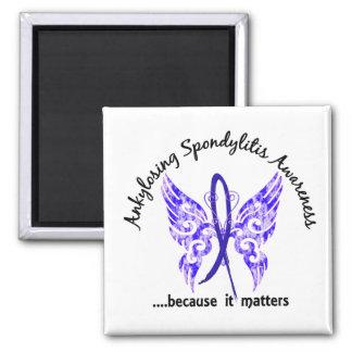 Ankylosing Spondylitis Schmetterling 6,1 Quadratischer Magnet