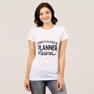 Anmeldepflichtiges Planer-Mädchen-Shirt T-Shirt