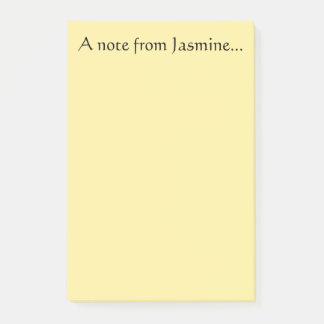 Anmerkung vom Jasmin Post-it Klebezettel