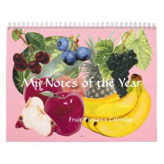 Anmerkungen des Jahr-Frucht-Kalenders Wandkalender
