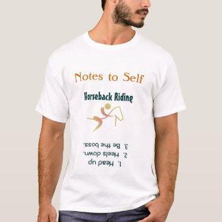 Anmerkungen zum Selbstpferderuecken-ReitT - Shirt
