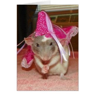 Anmerkungs-Karte Haustier-Ratten-Prinzessin-Reba Karte