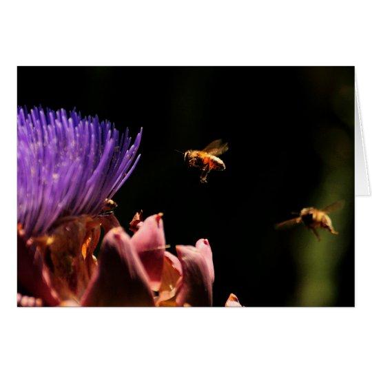 Anmerkungs-Karte oder Einladung - Bienen Pollenate Mitteilungskarte