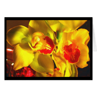Anmerkungs-Karte - Orchideen Karte