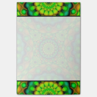 Anmerkungs-Mandala-psychedelische Visionen Post-it Haftnotiz