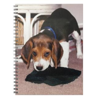 Anmerkungsbuch mit Beaglewelpen-Foto Spiral Notizblock