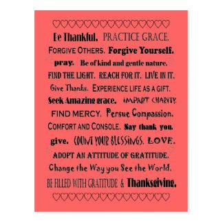 Anmut und Dankbarkeit Postkarte