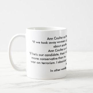 Ann Coulter ist ein IDIOT! Tasse