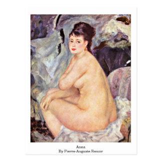 Anna durch Pierre-Auguste Renoir Postkarte