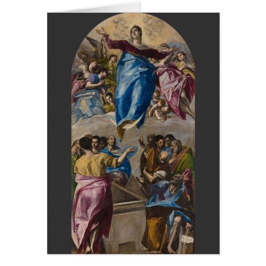 Annahme der Jungfrau durch EL Greco Grußkarte