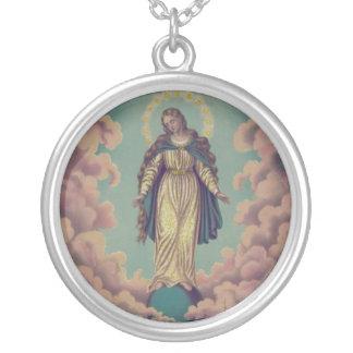 Annahme der Jungfrau Mary Versilberte Kette