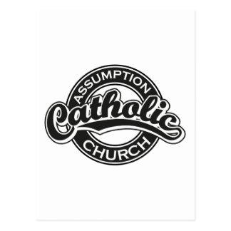 Annahme-katholische Kirchen-Schwarzes Postkarte