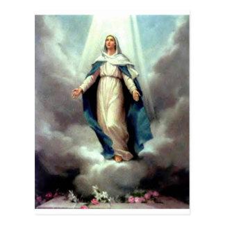 Annahme von Mary Postkarte