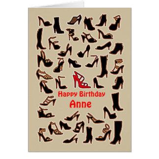 Anne beschuht alles- Gute zum Geburtstagkarte Karte