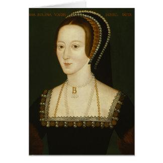 Anne Boleyn - leere Gruß-Karte Karte