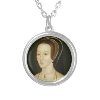 Anne Boleynlocket Versilberte Kette