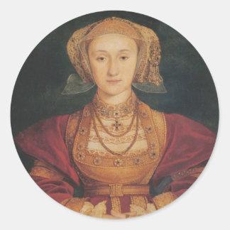 Anne von Cleves Aufklebern Runder Aufkleber