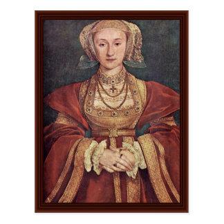 Anne von Cleves. Hans Holbein das jüngere Postkarte