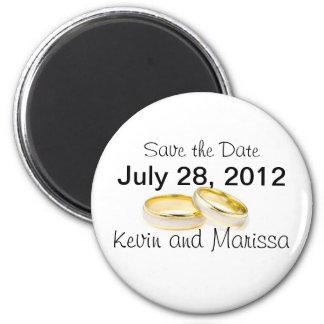 anneaux de mariage magnet rond 8 cm